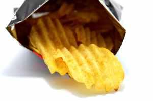 chips close colors crisps